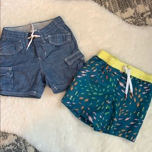Set of two shorts, Gap and Old Navy